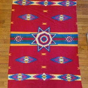 St Labre Indian School Blanket Southwest Print Red